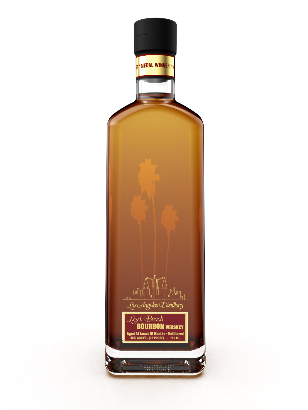 LA Distillery LA Beach 18 Months 92 Proof Bourbon Whiskey