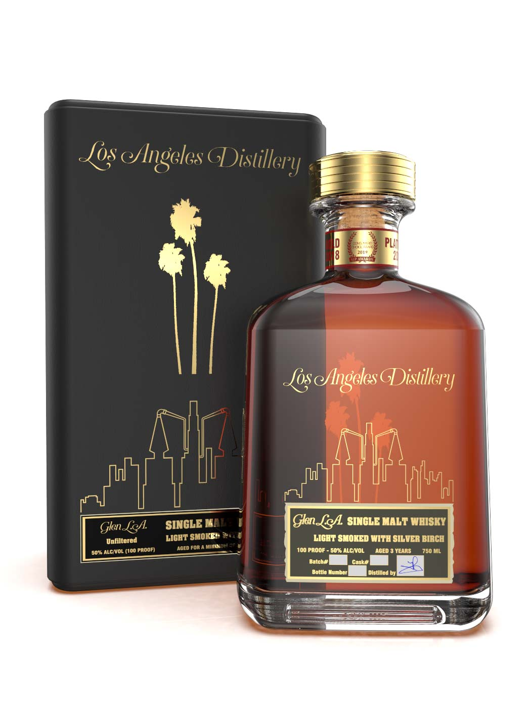 LA Distillery's Light Smoke Single Malt Whiskey Collector's Edition