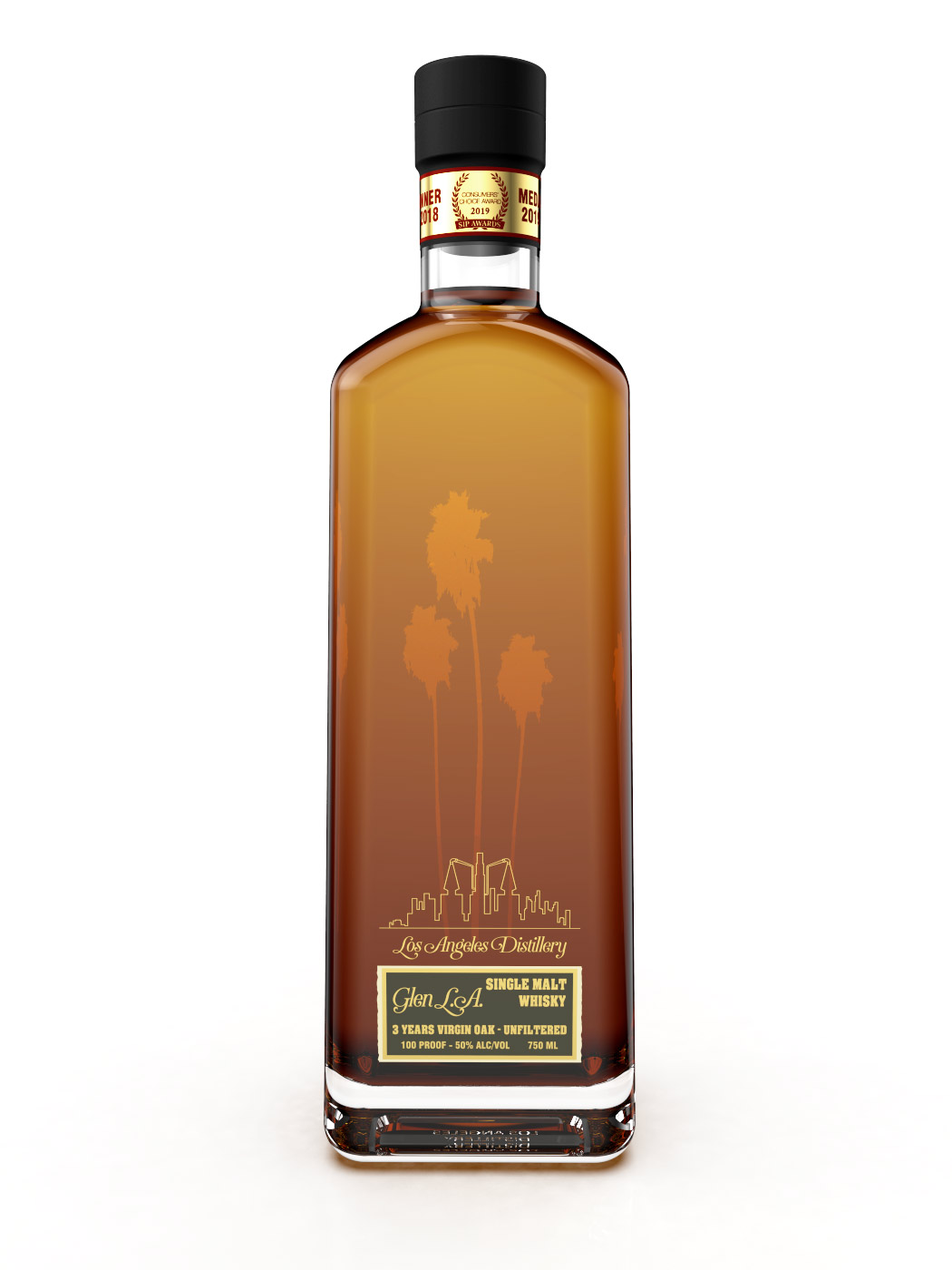 Los Angeles Distillery Glen LA Virgin Oak Single Malt Whisky